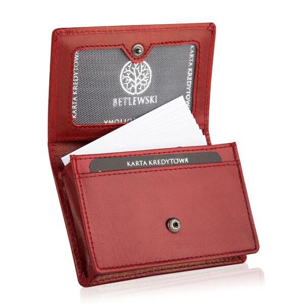 Etui na karty czerwone BEZ-06 Betlewski