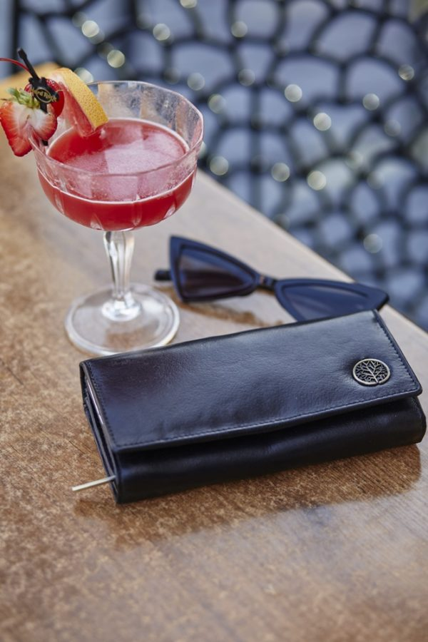 Skórzany portfel damski CLASSIC czarny