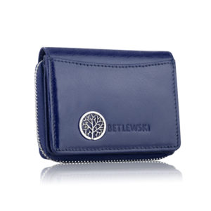 Skórzany portfel damski mały Finest Betlewski