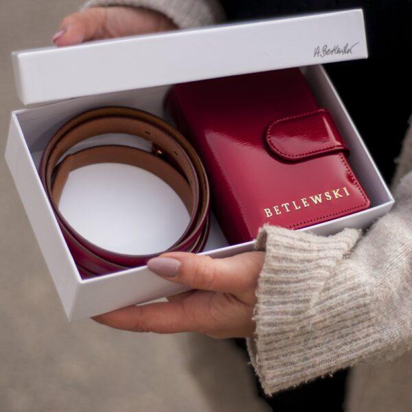 Zestaw prezentowy dla niej portfel + pasek