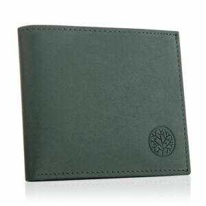 Zielony portfel męski ze skóry BOM-GR-10