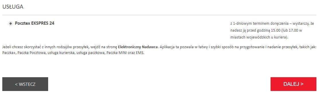usługa darmowego zwrotu Poczta Polska