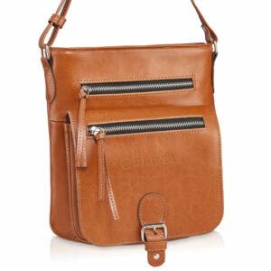 Skórzana torebka BPD-01-CAMEL