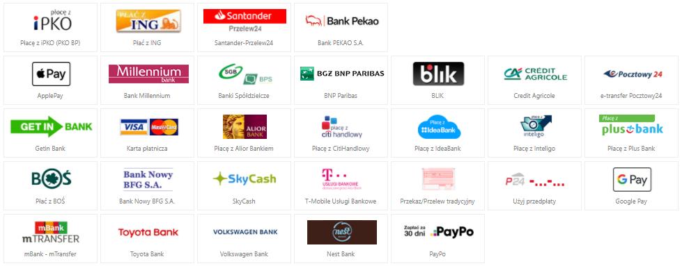 Metody płatności w sklepie Betlewski.com