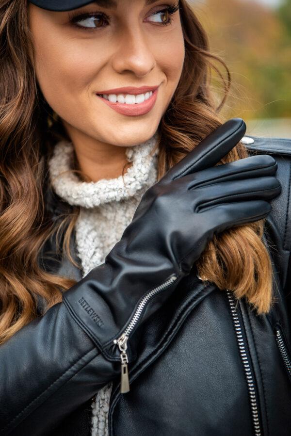 Rękawiczki damskie skórzane iTouch