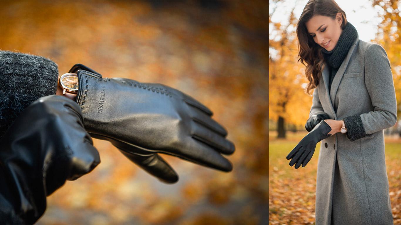 Rękawiczki damskie skórzane iTouch GLD-BG-4