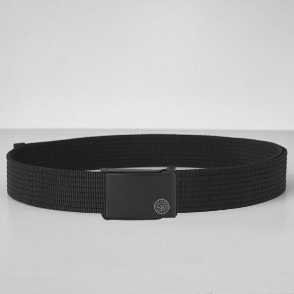 Pasek parciany cienki - czarny pasek do spodni